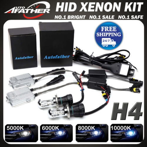 2019 New H4 55W HID Xenon Conversion KIT Headlight Hi//Lo Dual Beam Slim Ballast