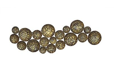 Metal Brown Rustic Gold Wall Hanging Art 19 Craters Home Decor Vintage Craft Ebay