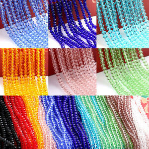 Wholesale-Crystal-Faceted-Glass-Beads-Loose-Spacer-Rondelle-Findings-4-6-8-10MM