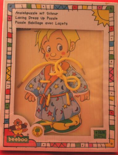 OVP beeboo/ Anziehpuzzle mit Schnur/ Design A /blonder Knabe/ab 18 Monate+ Puppen & Zubehör