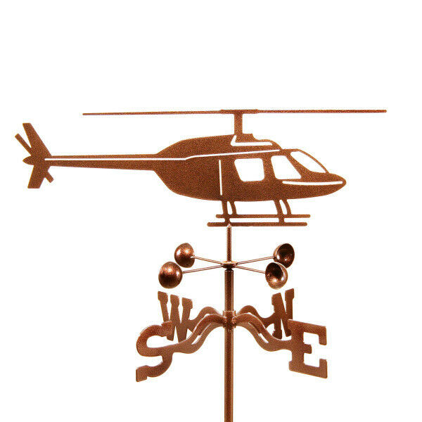 Airplane, Helicopter Weathervane, Chopper Wheather Vane with Choice of Mount