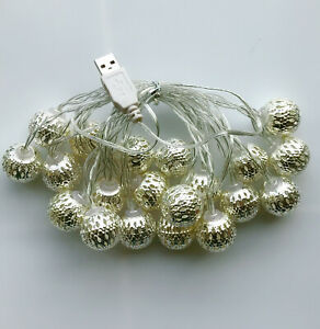 3M-Warm-White-Small-Ball-20-LED-String-Christmas-Wedding-Party-Fairy-Lights