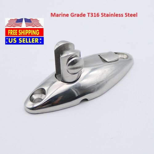 T316 Stainless Steel QUICK RELEASE Deck Hinge Mount Bimini Top Marine Hardware