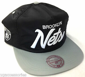 NBA Brooklyn Nets Mitchell and Ness Cap Zipper-Back Zip Hat M N NEW ... 015ab5af76b
