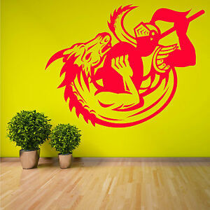 GEORGE-AND-THE-DRAGON-vinyl-wall-art-sticker-decal