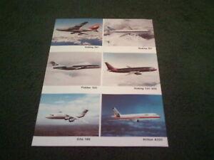 1987-SHORTS-BROTHERS-BOEING-747-757-737-300-FOKKER-100-BAE-146-LEAFLET-Brochure
