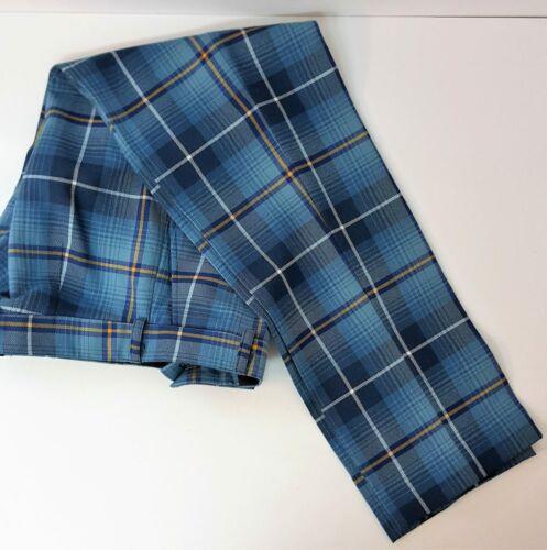 Ryder Cup Habillé Tartan Flat Front 3 Poche Standard Pantalon 100/% laine