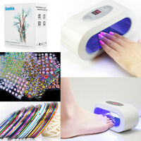 Nail Art Acrylic Uv /led Nail Lamp Curing Light Gel Polish Dryer With Timer Gift