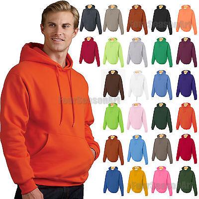 Jerzees NuBlend Poly Cotton Fleece Full-Zip Drawcord Hood SAFETY ORANGE 3XL