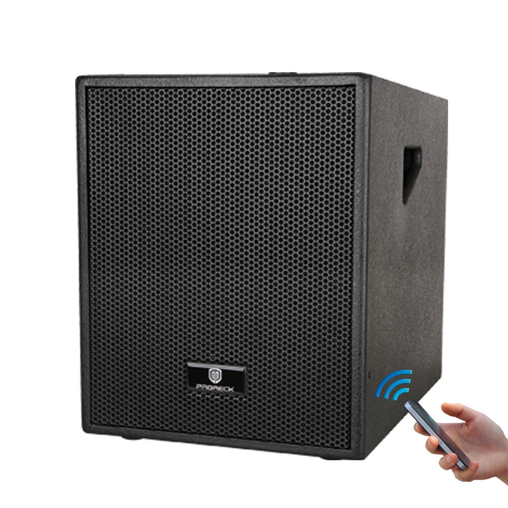 12-Inch 3000 Watt 4-Channel Stereo DJ Powered Subwoofer with blueetooth USB line