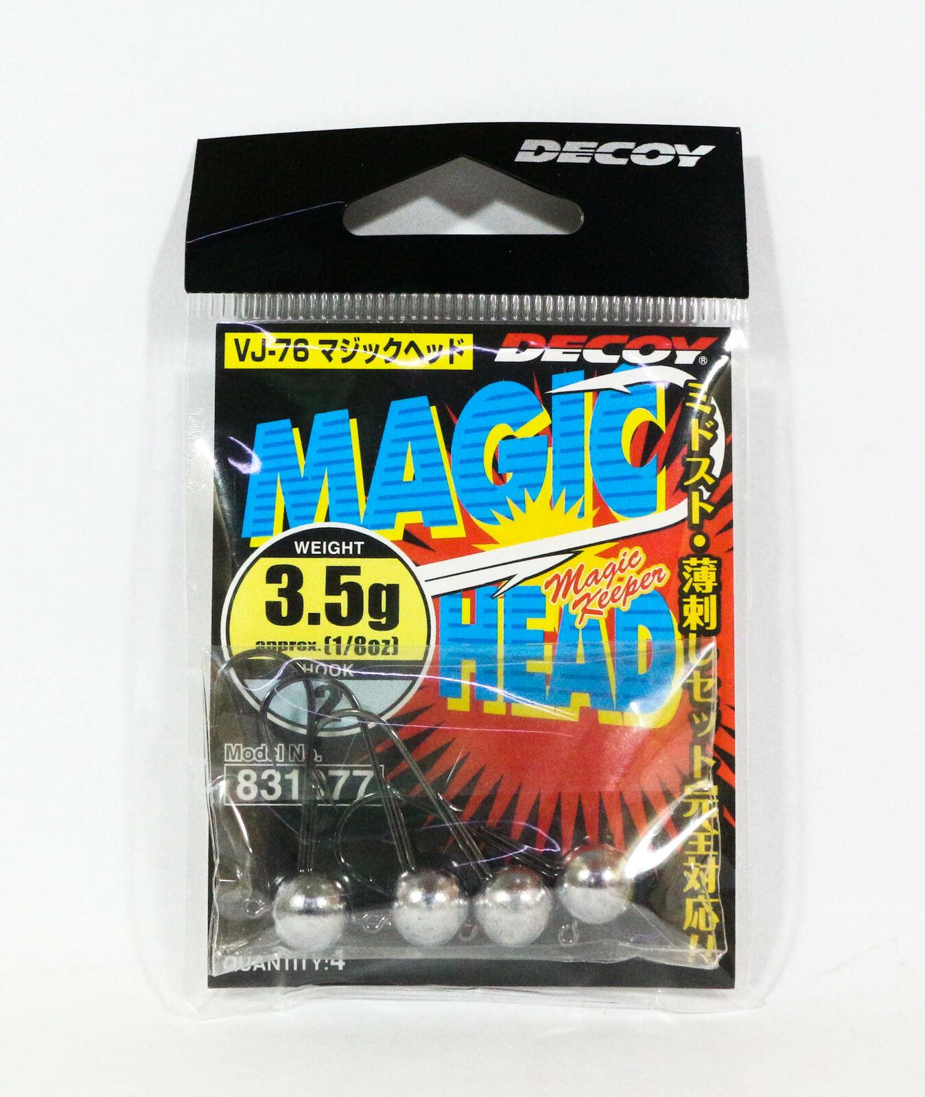 Decoy VJ-76 Jig Head Magic Head Hook Size 2 2.5 grams 7765