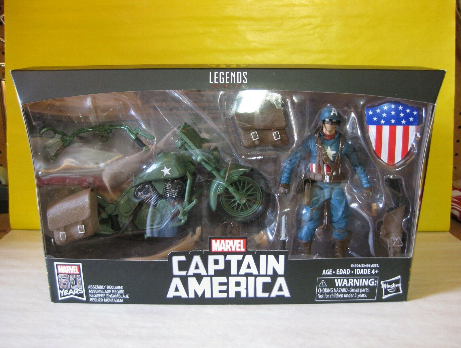 2019 Marvel Legends Ultimate WWII Captain America 6  w Motorcycle Marvel Riders