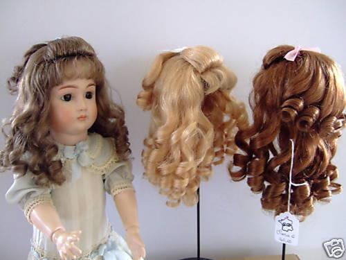 PERRUQUE 100/% cheveux naturels pour POUPEE ANCIENNE Made in France 27.5cm