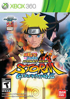 Naruto Shippuden Ultimate Ninja Storm Generations W/ Collectible Card Xbox 360