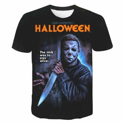 Halloween Horror Michael Myers  Women Men T-Shirt 3D Print Short Sleeve Tee Tops