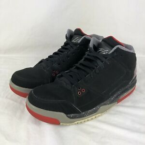 270ed3bfba4e35 Nike Jordan Flight Origin Shoes Black Cement Grey Fire Basketball ...