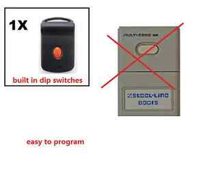 Steel-Line Doors Multi-Code/Mul<wbr/>ticode Cloning Garage/Gate Remote HT6M SteelLine
