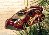 2012 Ford Fiesta '12 Race Car Christmas Ornament Dark Red Brown Racing Xmas