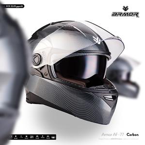 Casco Integral Moto Scooter Helmet Full Face ECE ARMOR AF-77 CARBON XS S M L XL