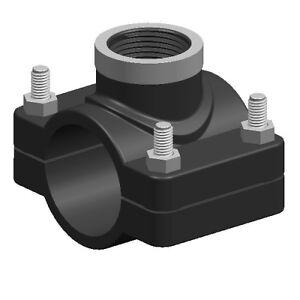 Anbohrschelle-Anbohrschellen-fuer-PE-Rohr-mit-Stahlverstaerkung-1-2-034-3-4-034-1-034-2-034-4-034