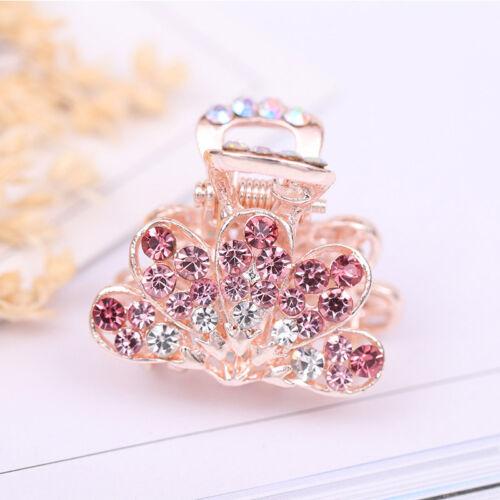Women Mini Hairpin Crystal Rhinestone Butterfly Hair Claw Fringe Clamp Pin Clip.