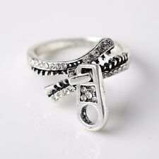 Gothic Zipper Stahl  Casting Titanium Herren Ring Band Schmuck Geschenk