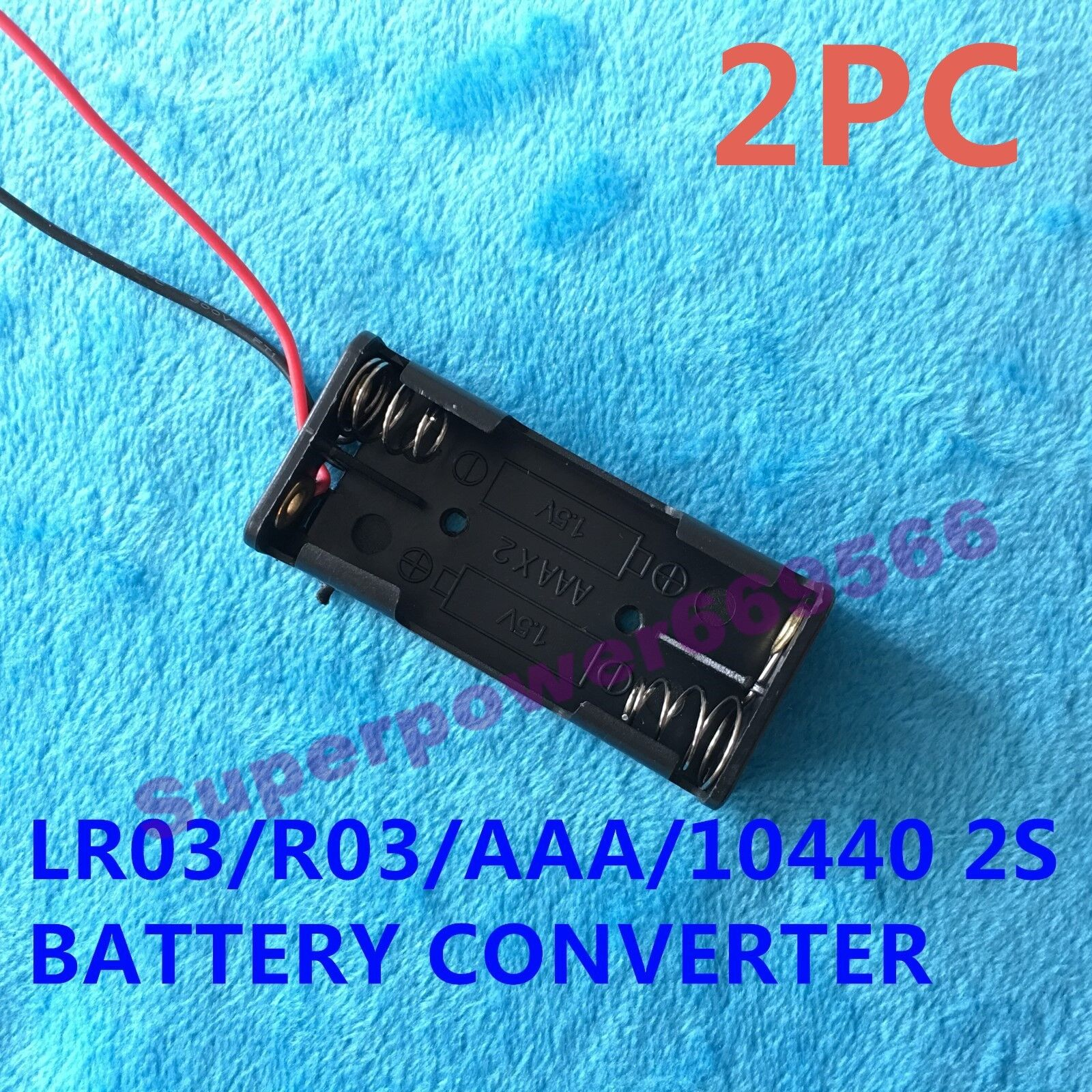 2PC TWO slot clip plastic connector holder for LR03 R03 AAA 10440 DRY BATTERY