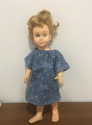 Fits 19 Chatty Cathy Doll Clothes Peasant Dress Night Gown Floral Print