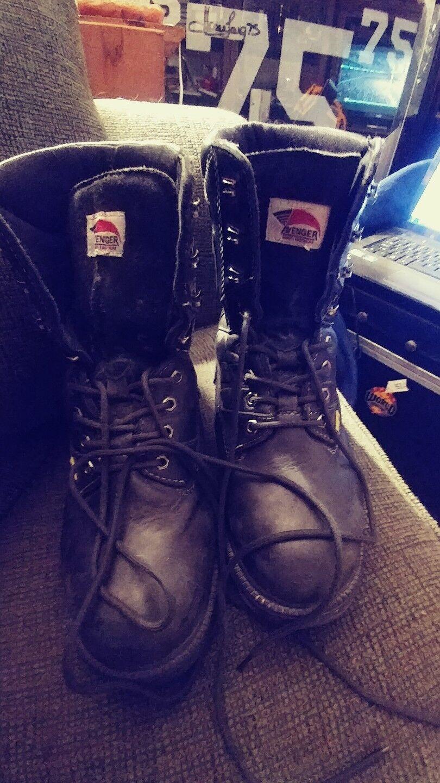 Avenger SAFETY FOOTWEAR Mens Steel Toe Stiefel - 7310 - Größe 10W MT 75 OIL ACID RES