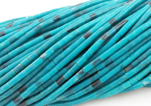 Synthetic Turquoise Heishi Beads 2-3 mm , 24 Inches Strand