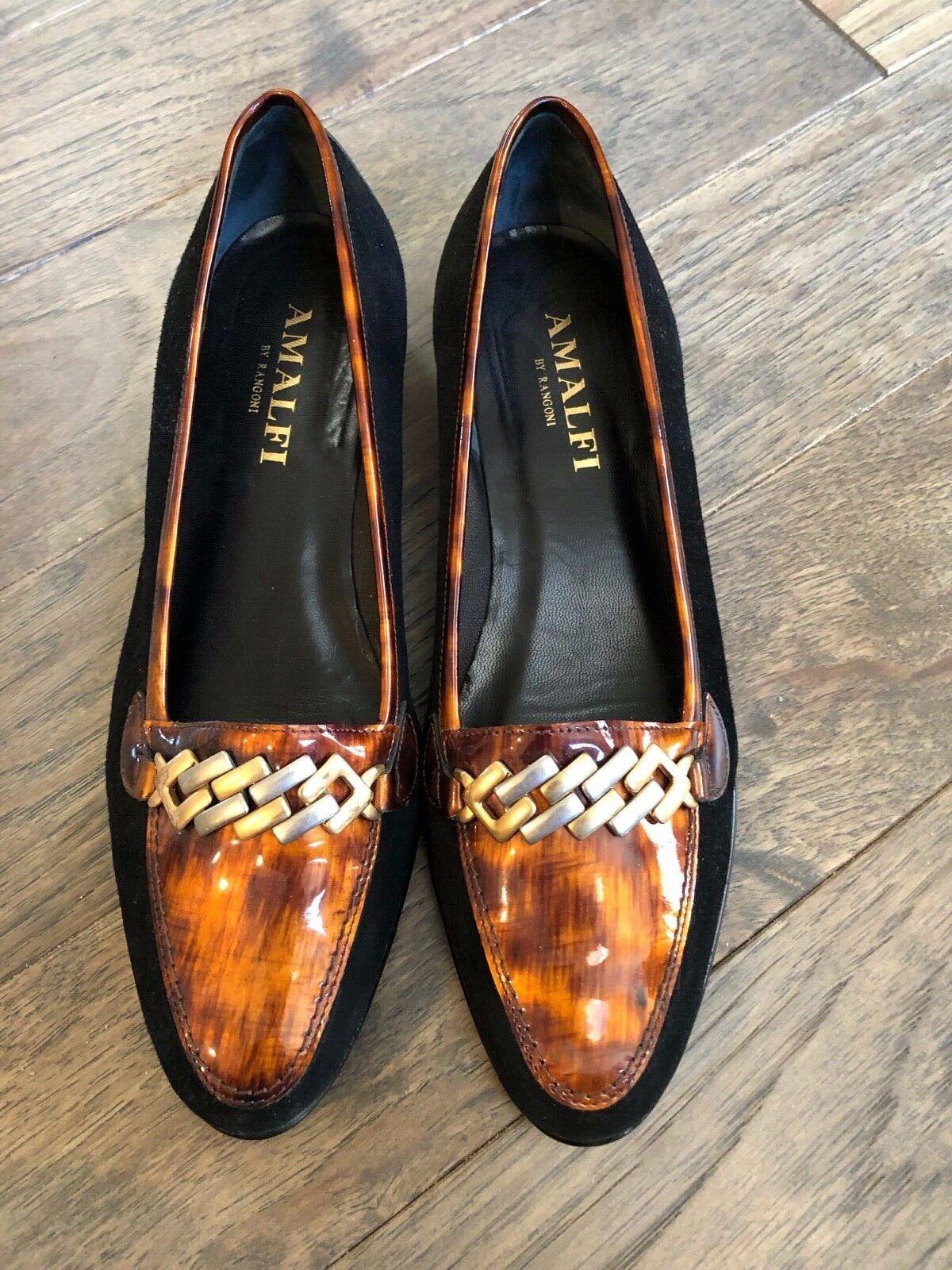 Amalfi By Rangoni oste negro ante Y Bronce Negro Charol Charol Charol Zapatos-Talla 8.5C-NEW  barato