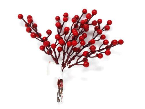 Filaire Artificielle Rouge Berry Bundle x 19 cm guirlande de Noël Guirlande Décoration