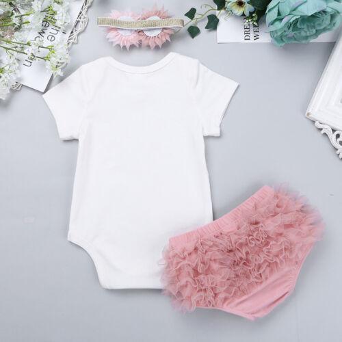 Stirnband Pumphose Baby Mädchen Festlich Kleidung Outfits Kurzarm Strampler
