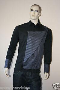 annhagen-Designer-Camicia-Maglia-Nero-Lilla-Viola-tg-M
