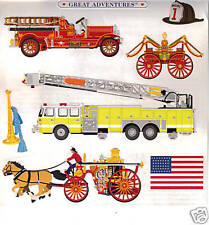 Grossman/'s Stickers Fire Engines Ladder Truck- 4 Strips Fire Trucks Mrs