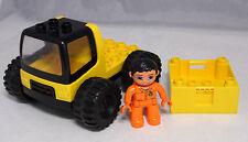 Lego Duplo LKW Lastwagen Kiste Aufsatz und Fahrer Figur  #3