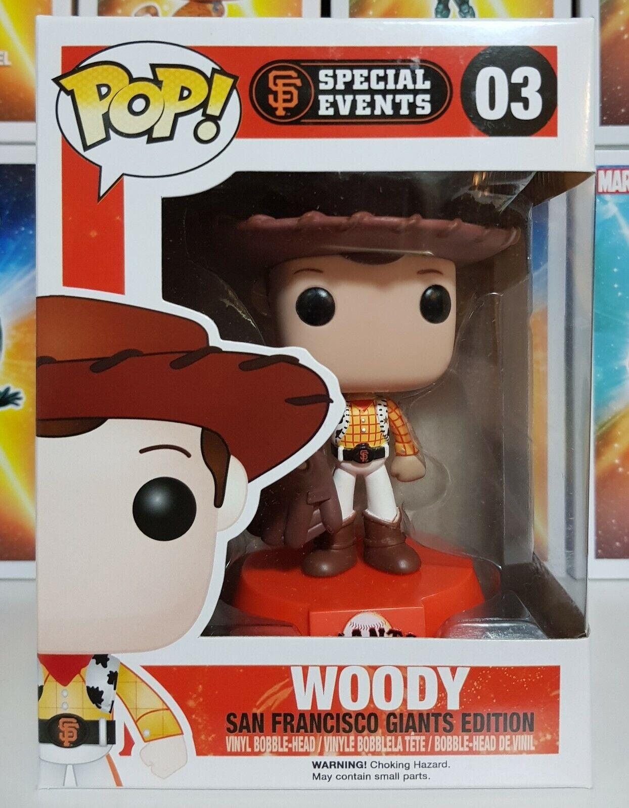 RARE  giocattolo storia  - San Francisco Giants edizione Woody diverdeimentoko Pop  Vinyl  la vostra soddisfazione è il nostro obiettivo