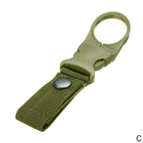 1PC Water Bottle Holder Clip Outdoor Camping Hiking Belt Buckle Tactical E5T3