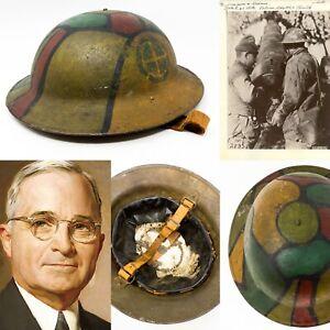 Rare-AEF-35th-Division-60th-Artillery-Field-Brigade-Cpt-Harry-Truman-Div-Helmet