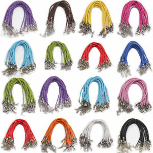 Wholesale-Leather-Chain-Necklace-Bracelet-String-Jewellery-Making-DIY-Charm-Gift