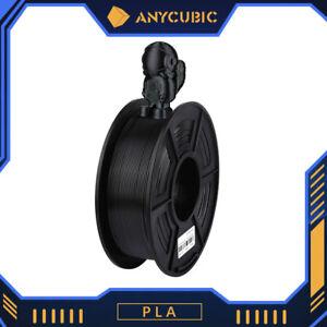 ANYCUBIC PLA 3D Drucker Filament 1KG 2,2 lbs Spule 1.75mm für 3D Drucker Schwarz