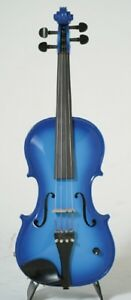 Agressif Barcus-berry Vibrato-ae Acoustic-electric Violin Outfit Avec étui-bleu-ric Violin Outfit With Case - Blue Fr-fr Afficher Le Titre D'origine 50% De RéDuction