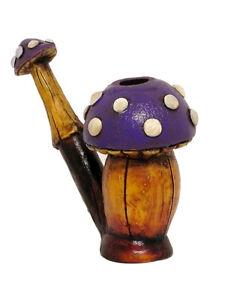 Mushroom Smoker Man Handmade Tobacco Smoking Hand Pipe Angry Shroom Comedy Gifts