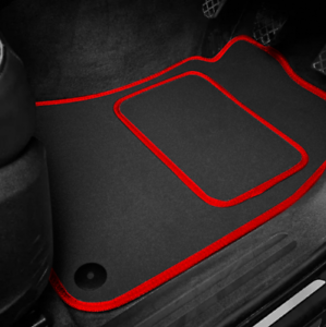 High Quality Car Floor Mats Set In Black/Red To Fit Kia Soul (2014 on)
