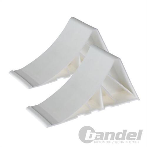 Unterlegkeil-Set 2 pezzi rimorchio antiscivolo bianco di backup