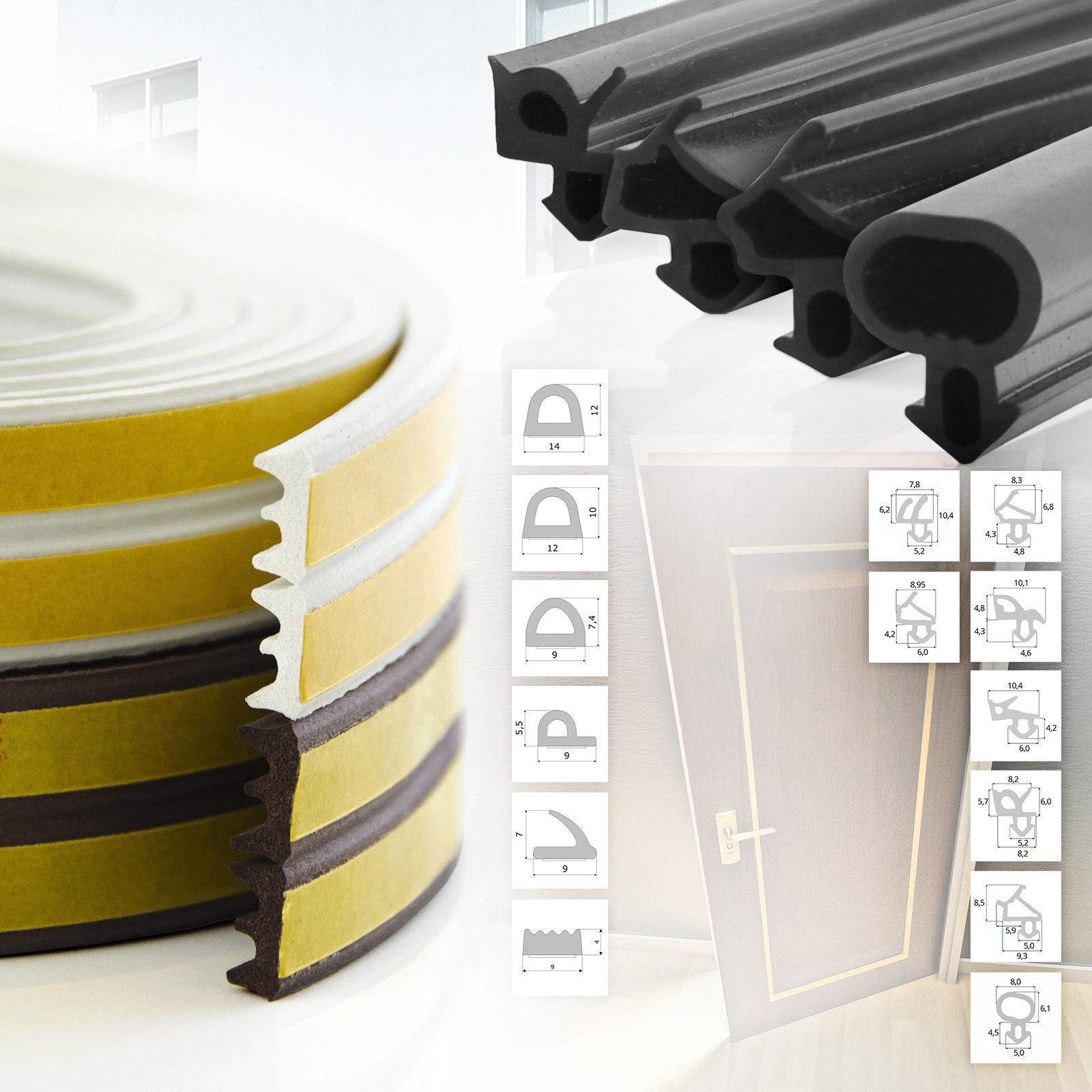 Fensterdichtung selbstklebend Gummidichtung Rehau Veka 15 Modelle 3 Farben EPDM