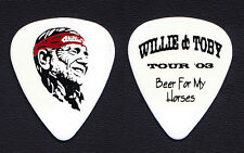 Willie Nelson Toby Keith Beer For My Horses White Guitar Pick - 2003 Tour