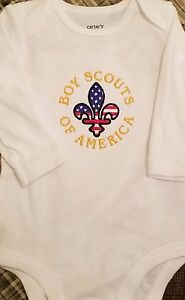 Boy Scouts of America Baby Bodysuit Embroidered