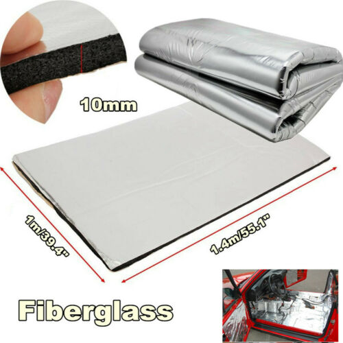 1,0m x 1,0m Aluminium Ceramic Heat protection mat Ultra Adhesive *** Turbo auspu