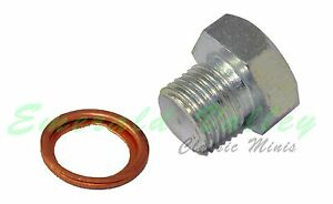 Morris Minor New Oil Pan Drain Plug And Copper Washer Kit